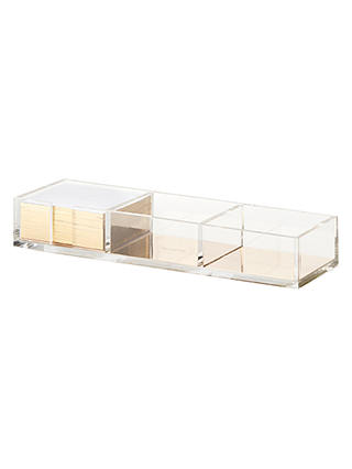 Buy kate spade new york Gold Acrylic Note Holder and Cards Online at johnlewis.com