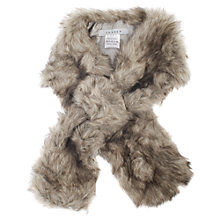 Buy Chesca Faux Fur Slip Scarf, Grey Online at johnlewis.com