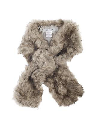 Chesca Faux Fur Slip Scarf, Grey