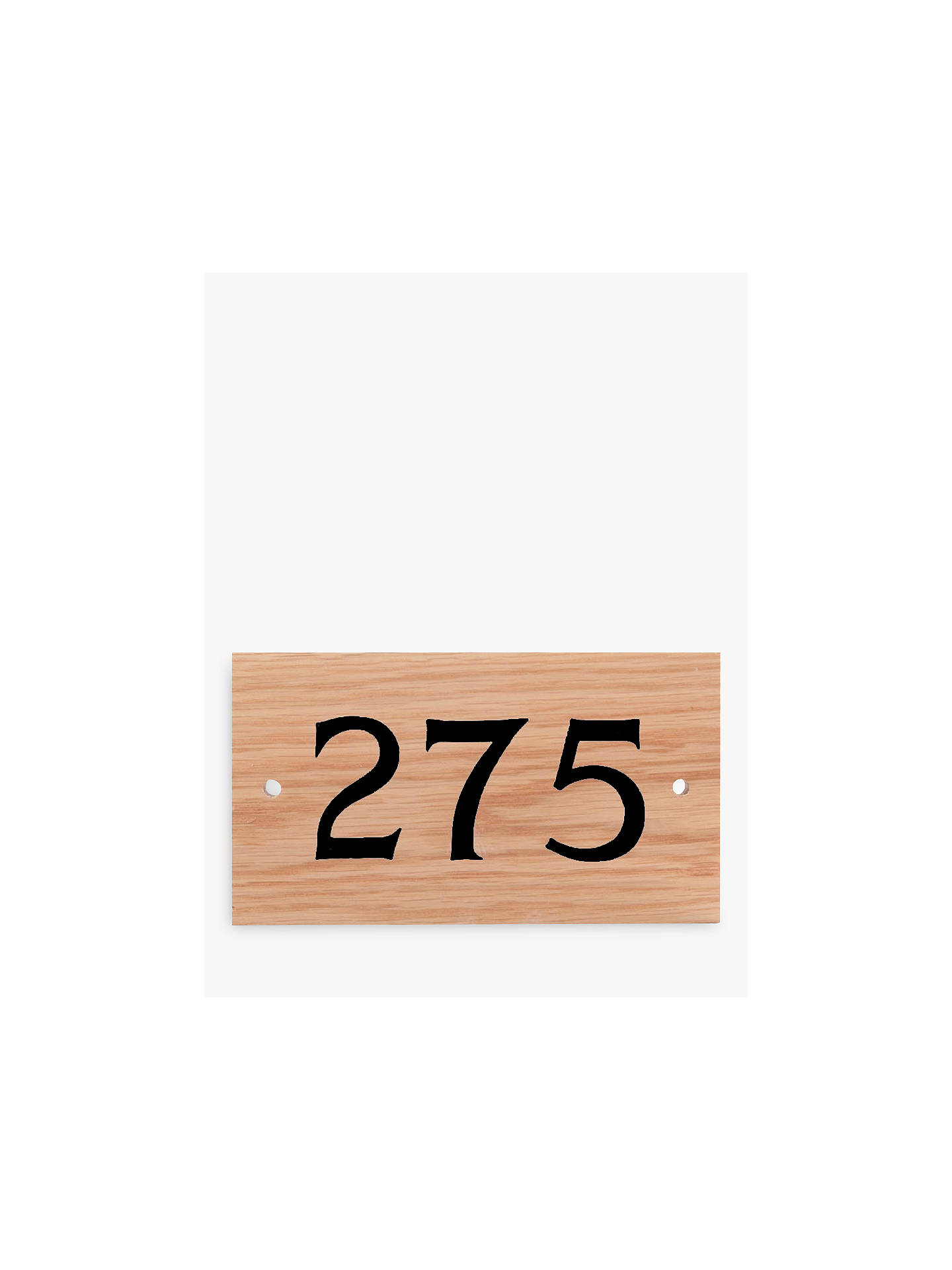 BuyThe House Nameplate Company Personalised Oak Wood House Number, 3 Digit, Black Online at johnlewis.com