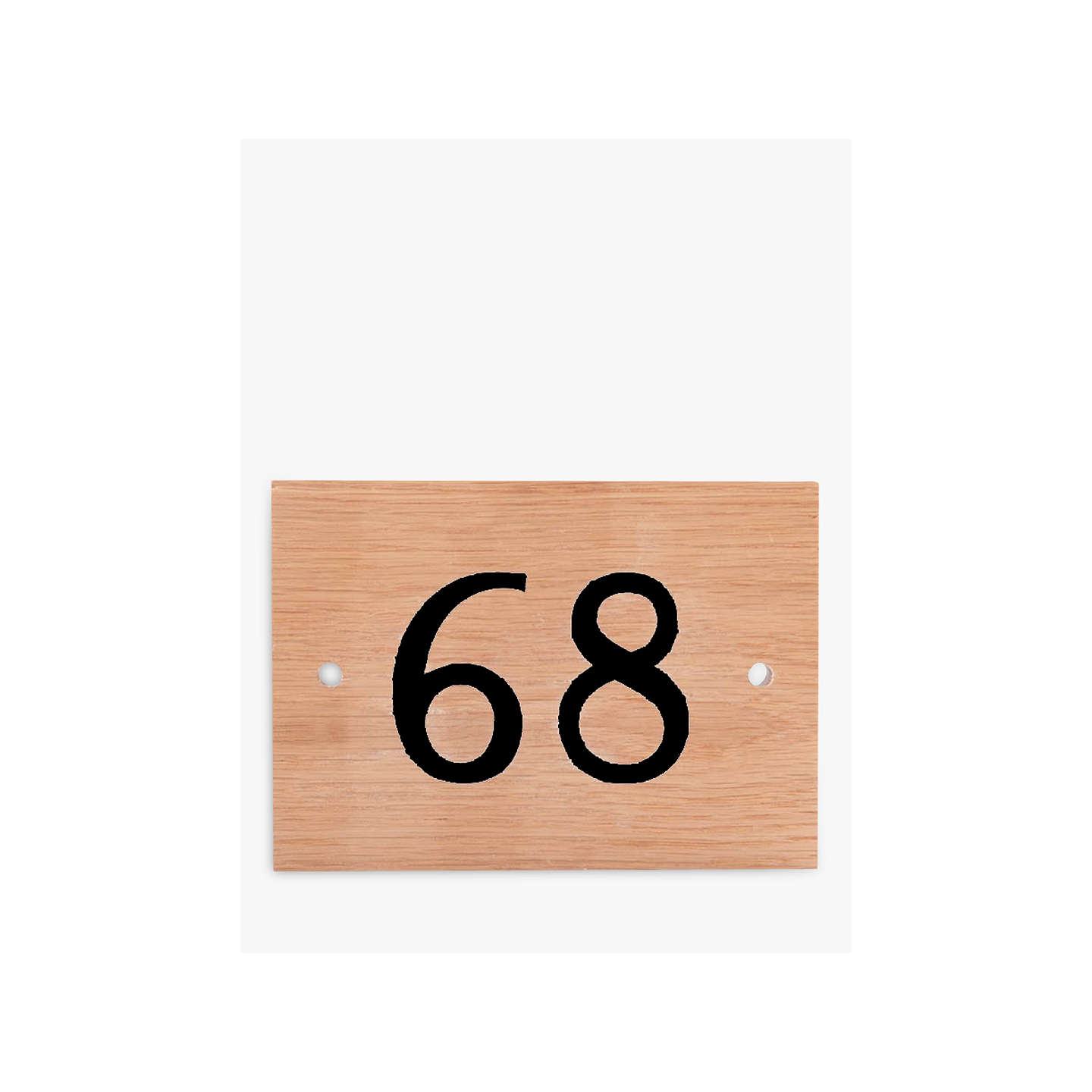 BuyThe House Nameplate Company Personalised Oak Wood House Number, 2 Digit, Black Online at johnlewis.com