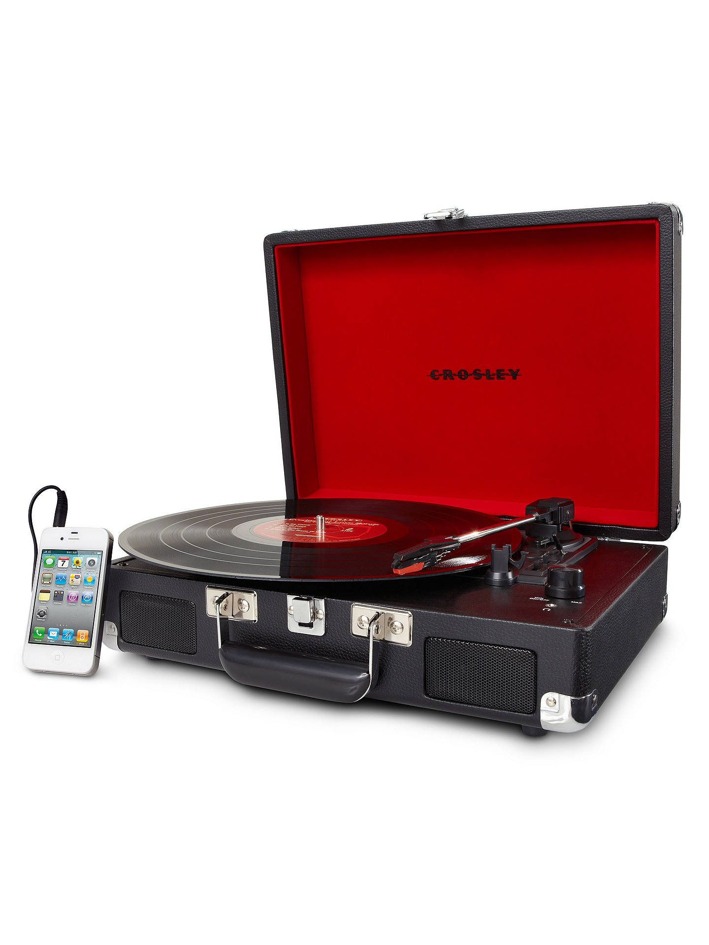 BuyCrosley Cruiser Turntable With Three Speeds, Black Online at johnlewis.com