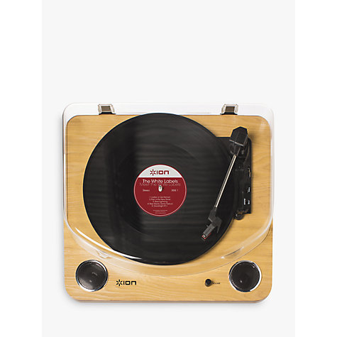 Buy ION Max LP Conversion Turntable with Speakers Online at johnlewis.com