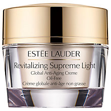 Buy Estée Lauder Revitalising Supreme Light Global Anti-Ageing Creme Oil-Free Online at johnlewis.com