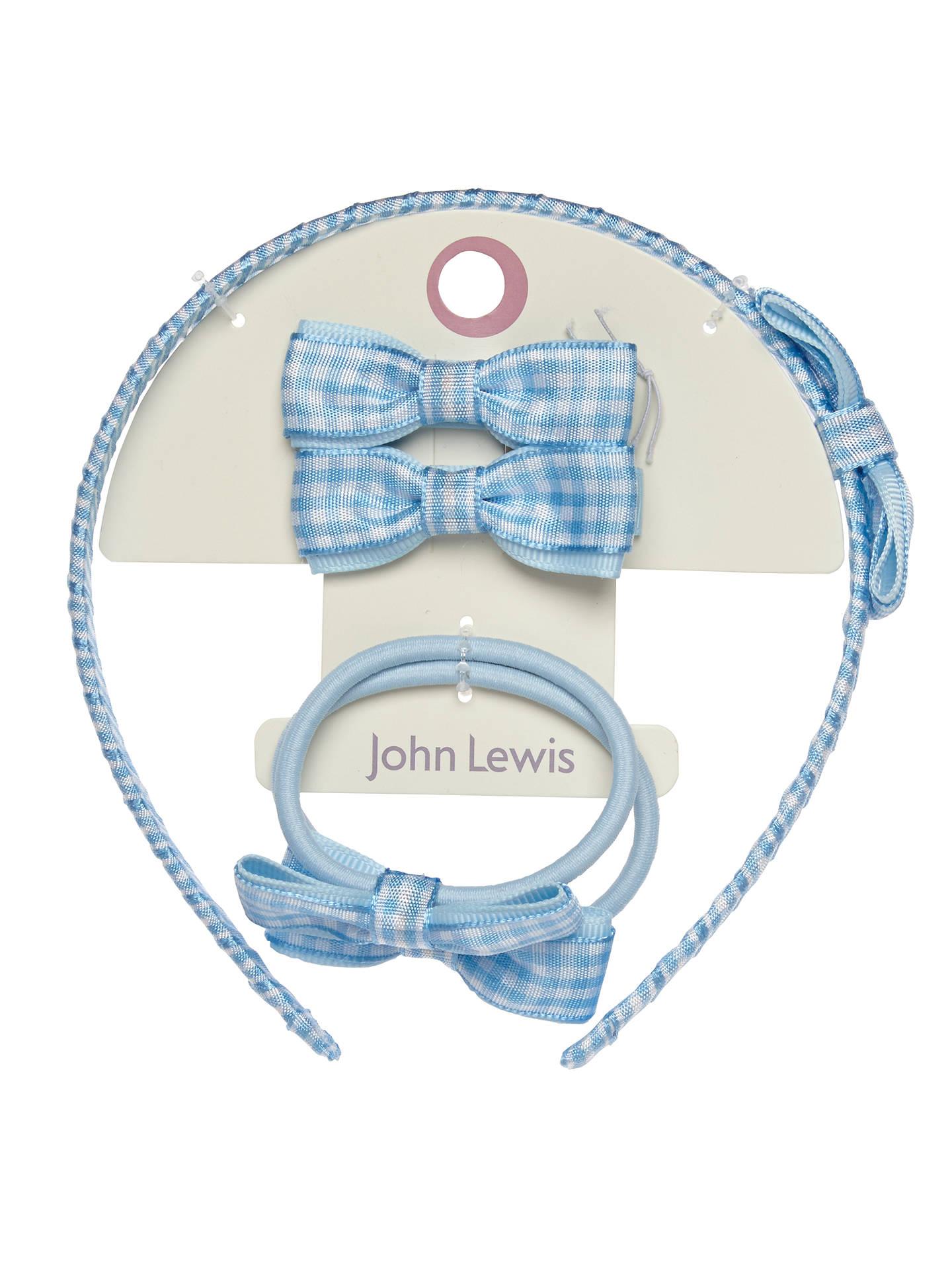 NEW Pack of 2 Navy blue gingham checked aliceband headband