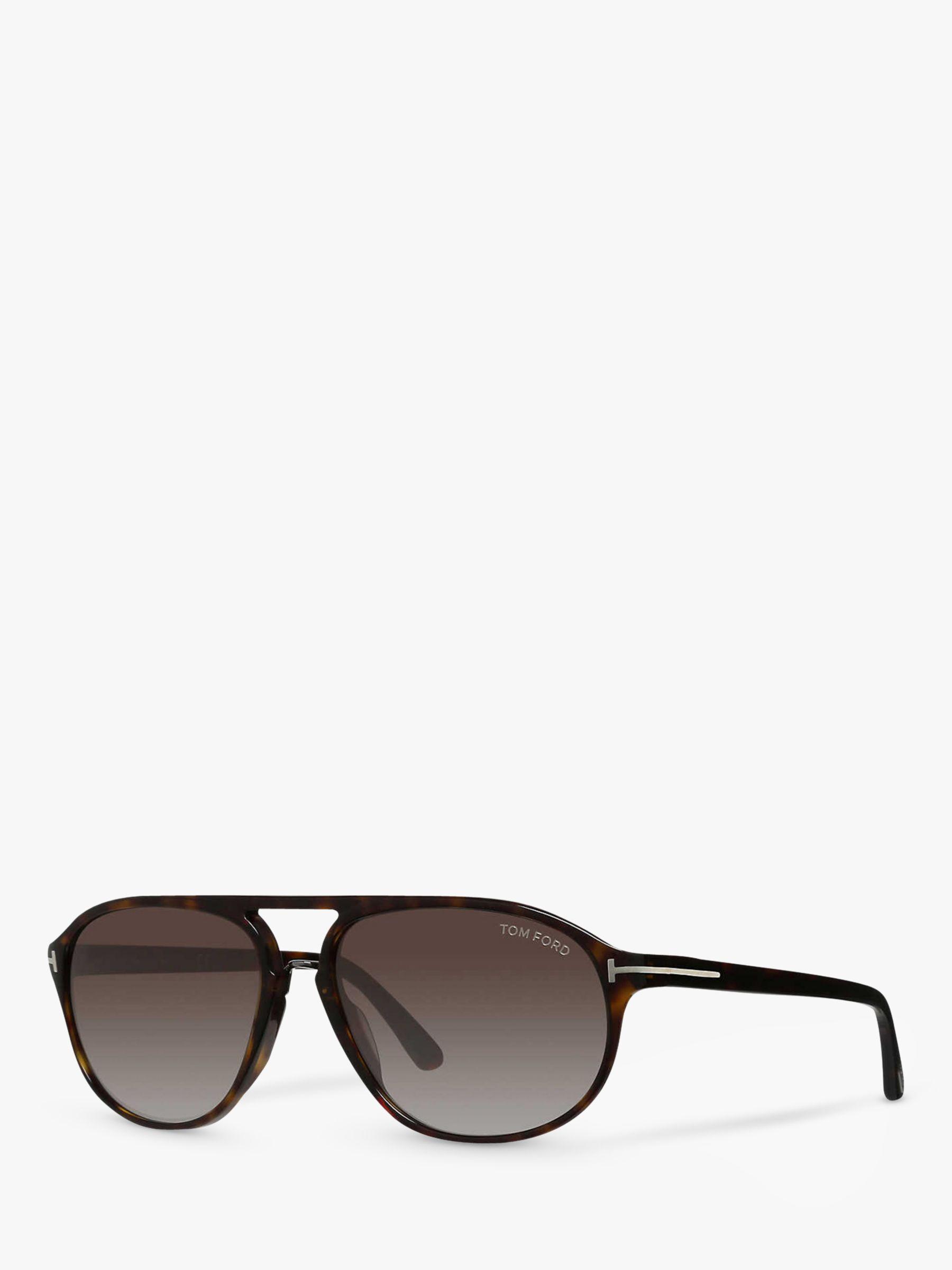 Tom Ford TOM FORD FT0447 Jacob Gradient Aviator Sunglasses, Brown