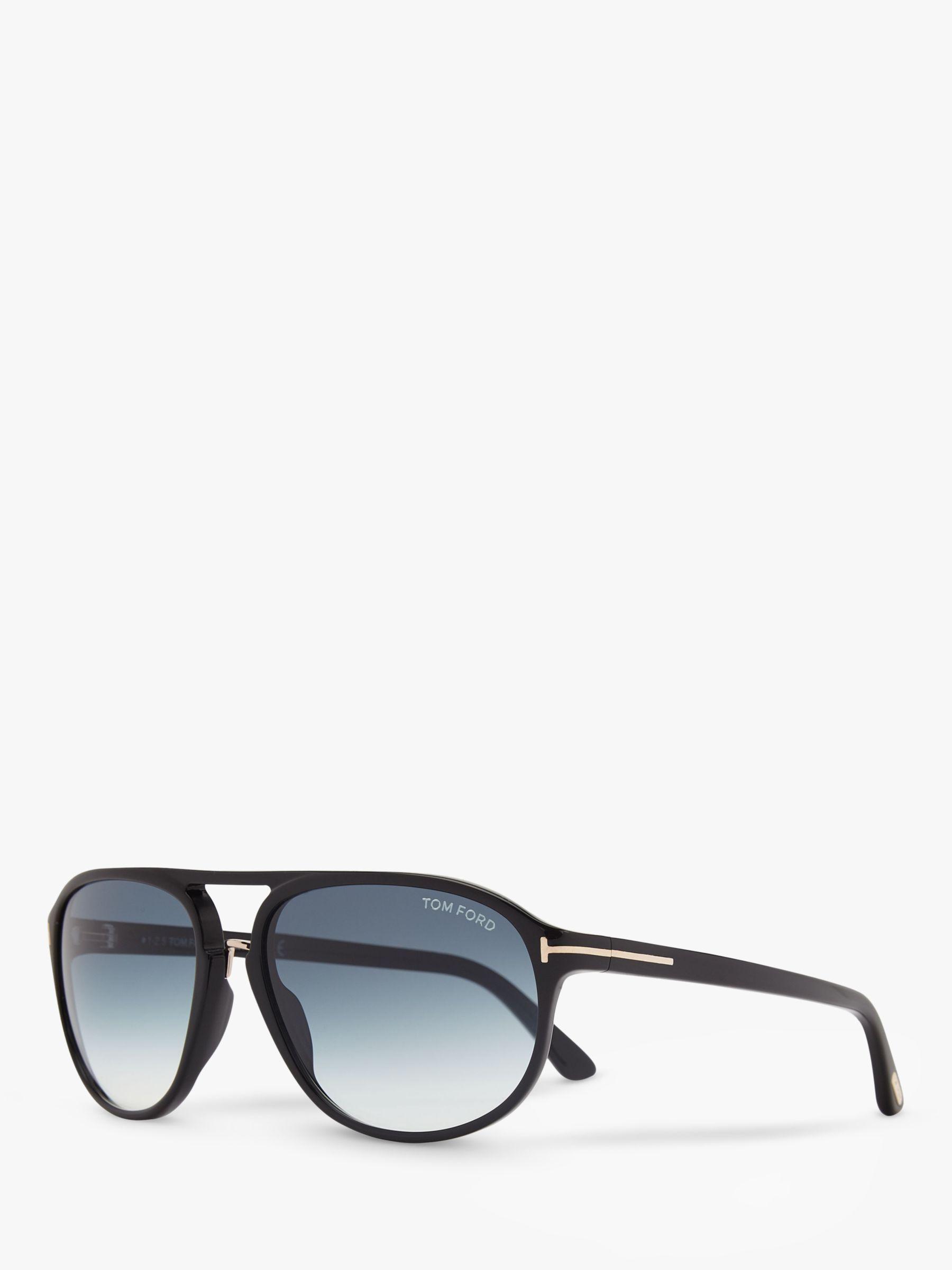 Tom Ford TOM FORD FT0447 Jacob Gradient Aviator Sunglasses, Black/Blue