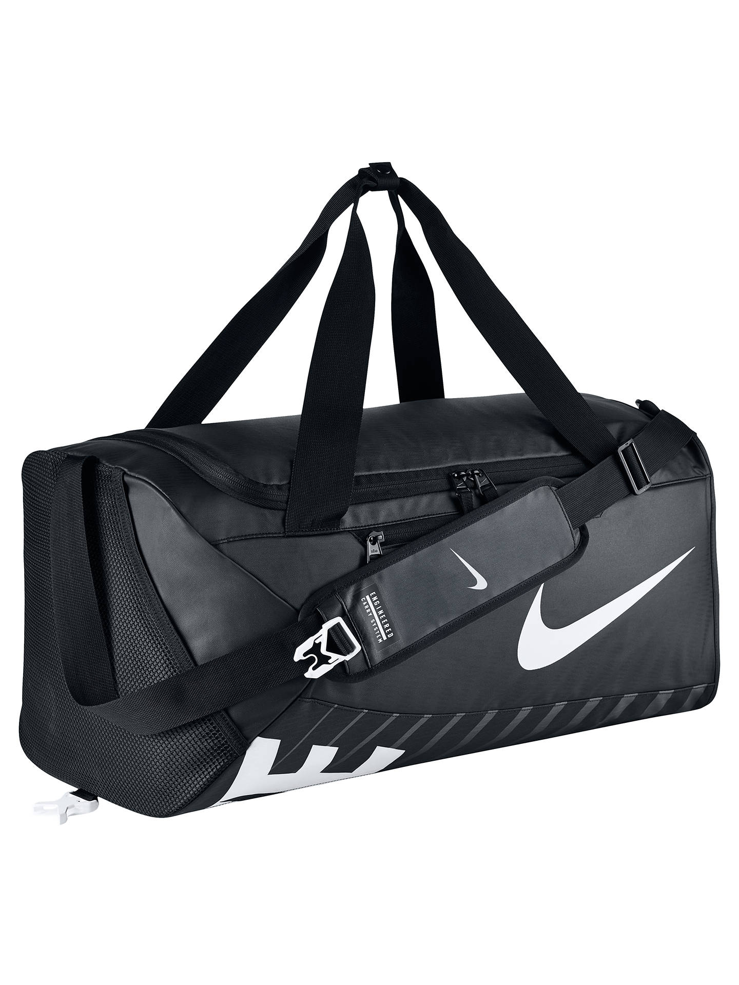 Nike Alpha Adapt Cross Body Training Duffle Bag Medium Black Online At Johnlewis