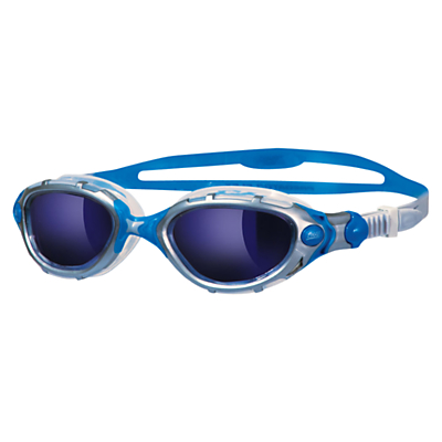 Zoggs Predator Flex Mirror Swimming Goggles, Blue Mirror/Silver