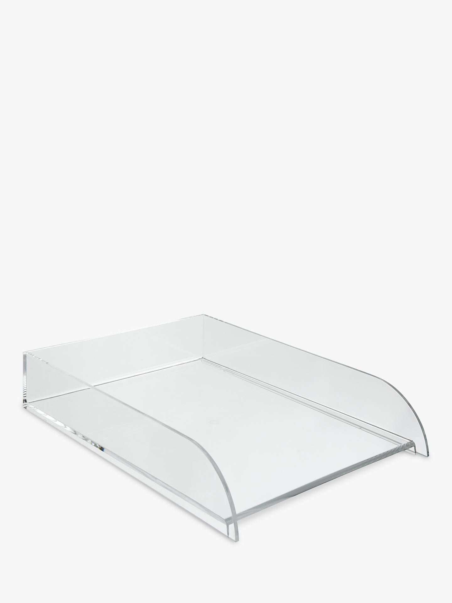 Osco Acrylic Stacking Tray Clear At John Lewis Partners
