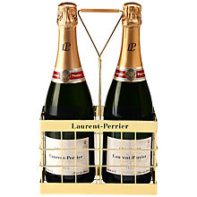 Buy Laurent-Perrier Brut Champagne and Crate, Set of 2 Online at johnlewis.com