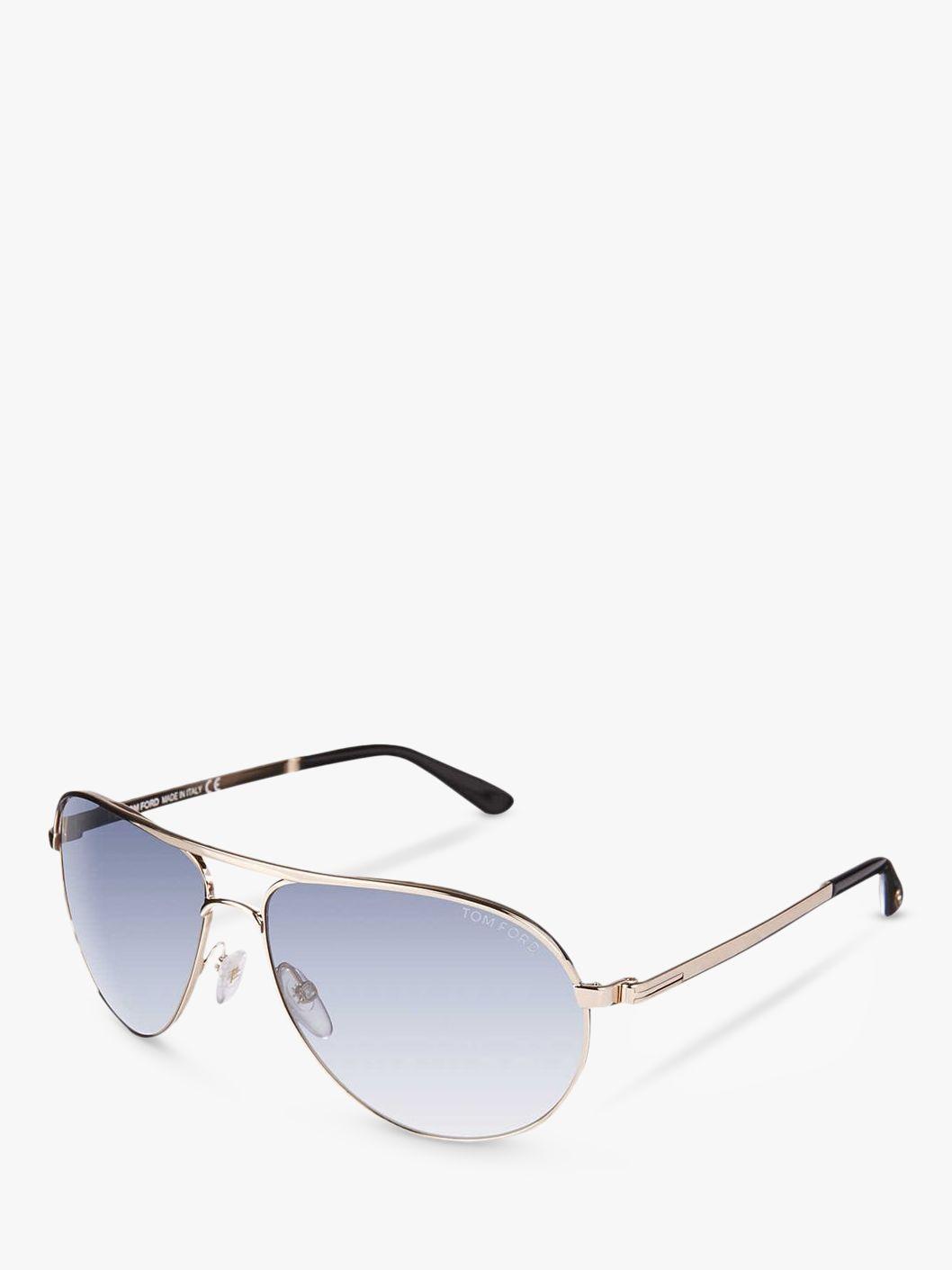 Tom Ford TOM FORD FT0144 Marko Aviator Sunglasses, Pale Blue