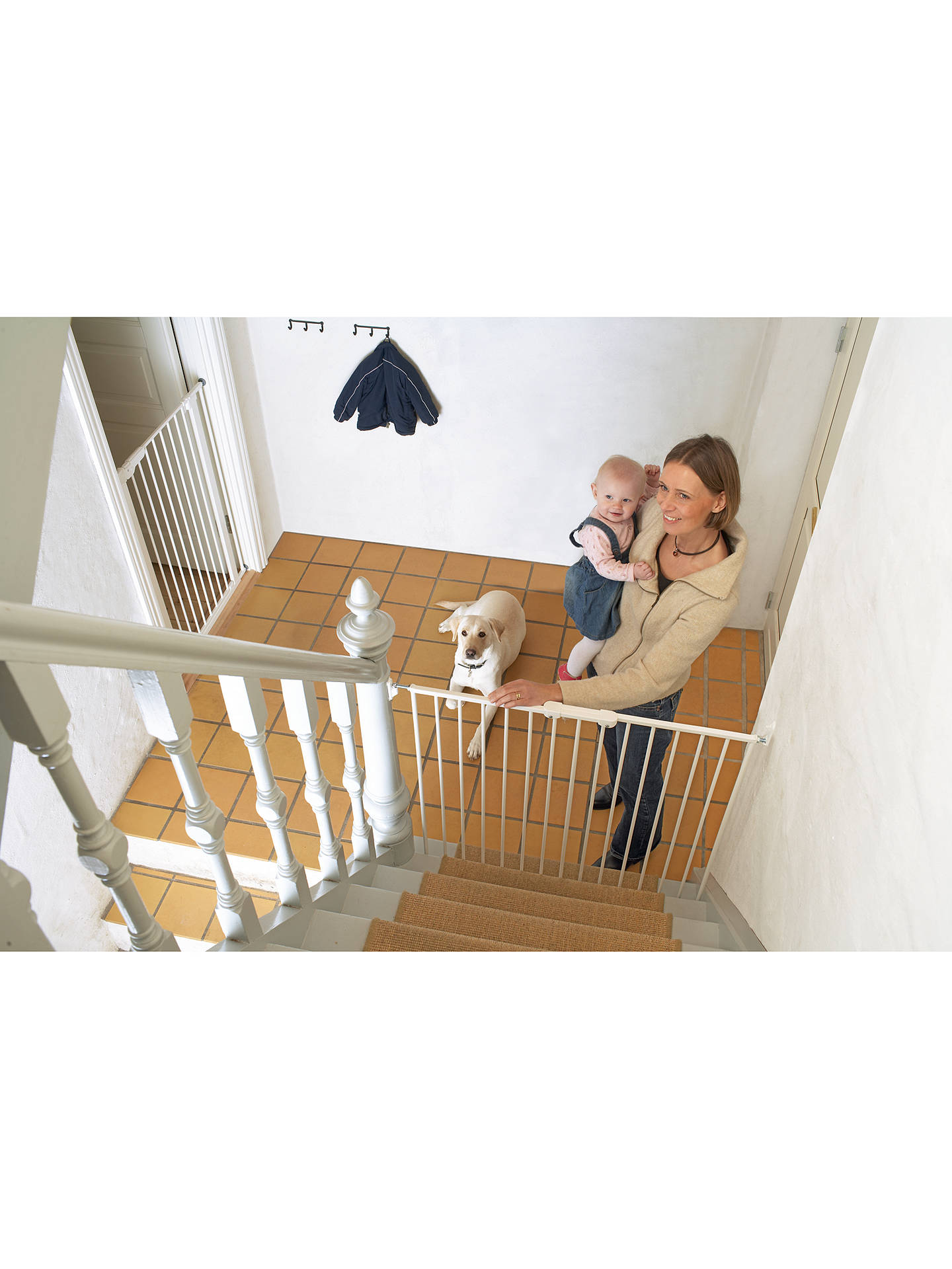 Babydan Extra Tall Extending Baby Gate White At John Lewis Partners