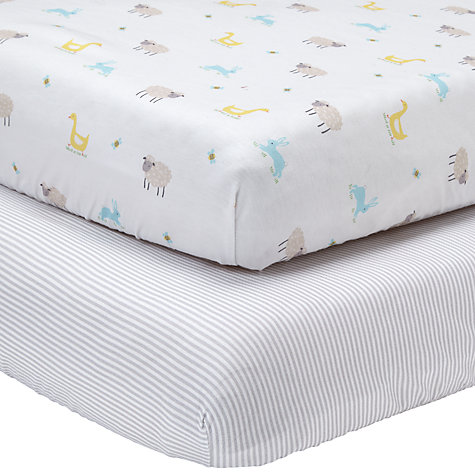 Cuddles Collection Cot Jersey Fitted Sheets Blue, Pack of 2