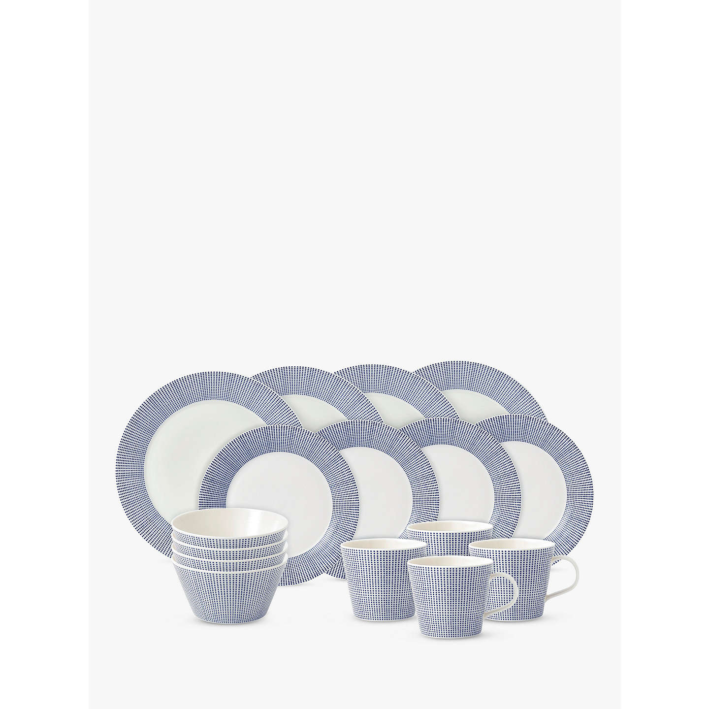 BuyRoyal Doulton Pacific Porcelain China Dinnerware Set Blue 16 Pieces Online at johnlewis.  sc 1 st  John Lewis & Royal Doulton Pacific Porcelain China Dinnerware Set Blue 16 ...