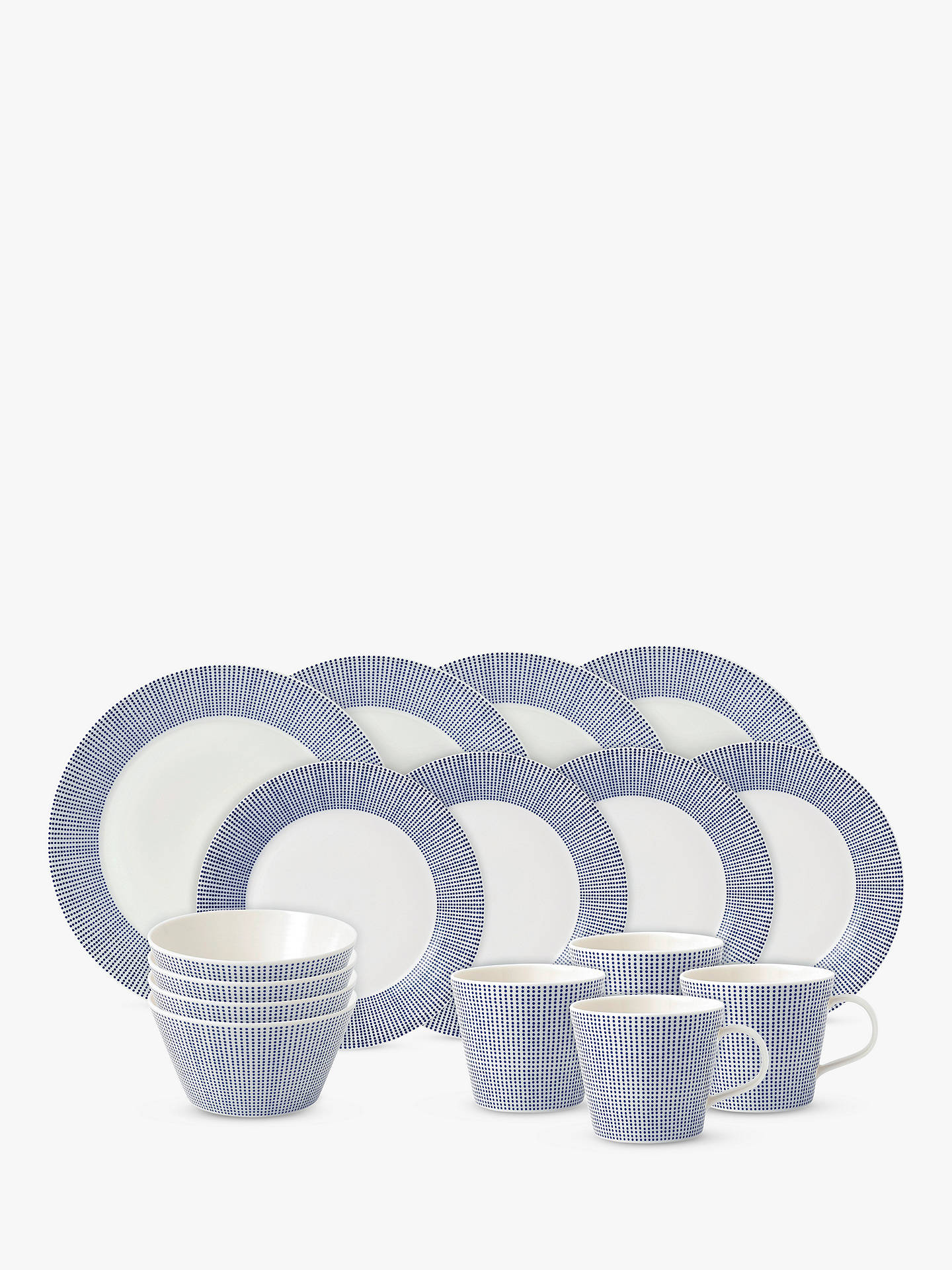 BuyRoyal Doulton Pacific Porcelain China Dinnerware Set, Blue, 16 Pieces Online at johnlewis.com