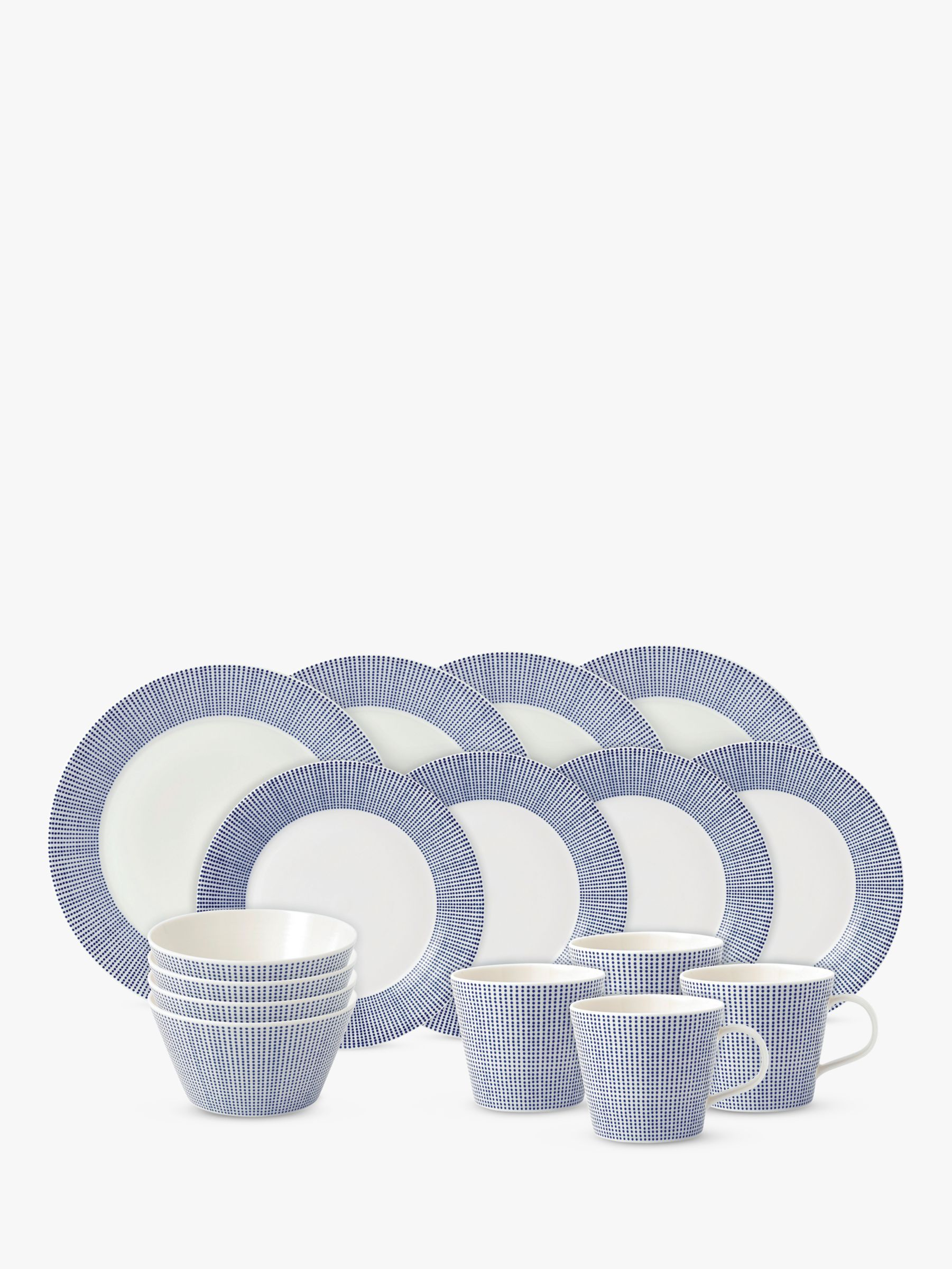 Royal Doulton Royal Doulton Pacific Porcelain China Dinnerware Set, 16 Piece, Blue