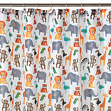 Buy little home at John Lewis Animal Fun Shower Curtain Online at johnlewis.com