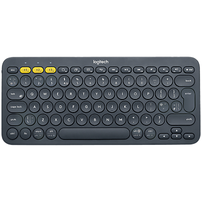 Logitech K380 Multi-device Bluetooth Keyboard, Dark Grey