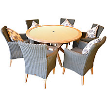 Buy LG Outdoor Hanoi Harbour 6-Seater Dining Set, FSC-certified (Acacia) Online at johnlewis.com