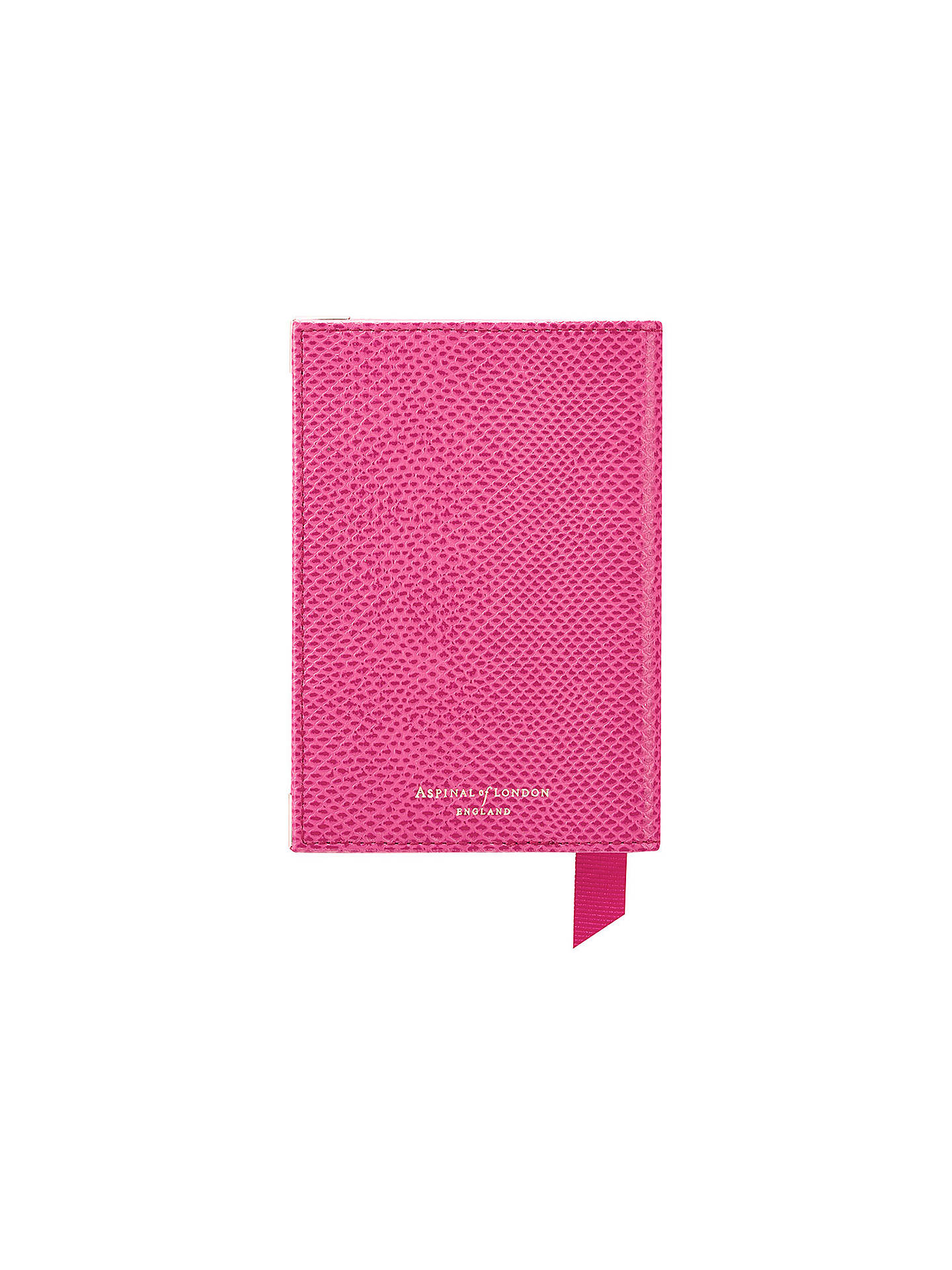 Buy Aspinal of London Leather Passport Cover, Pink Online at johnlewis.com