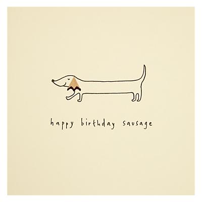 Ruth Jackson Sausage Dog Birthday Card