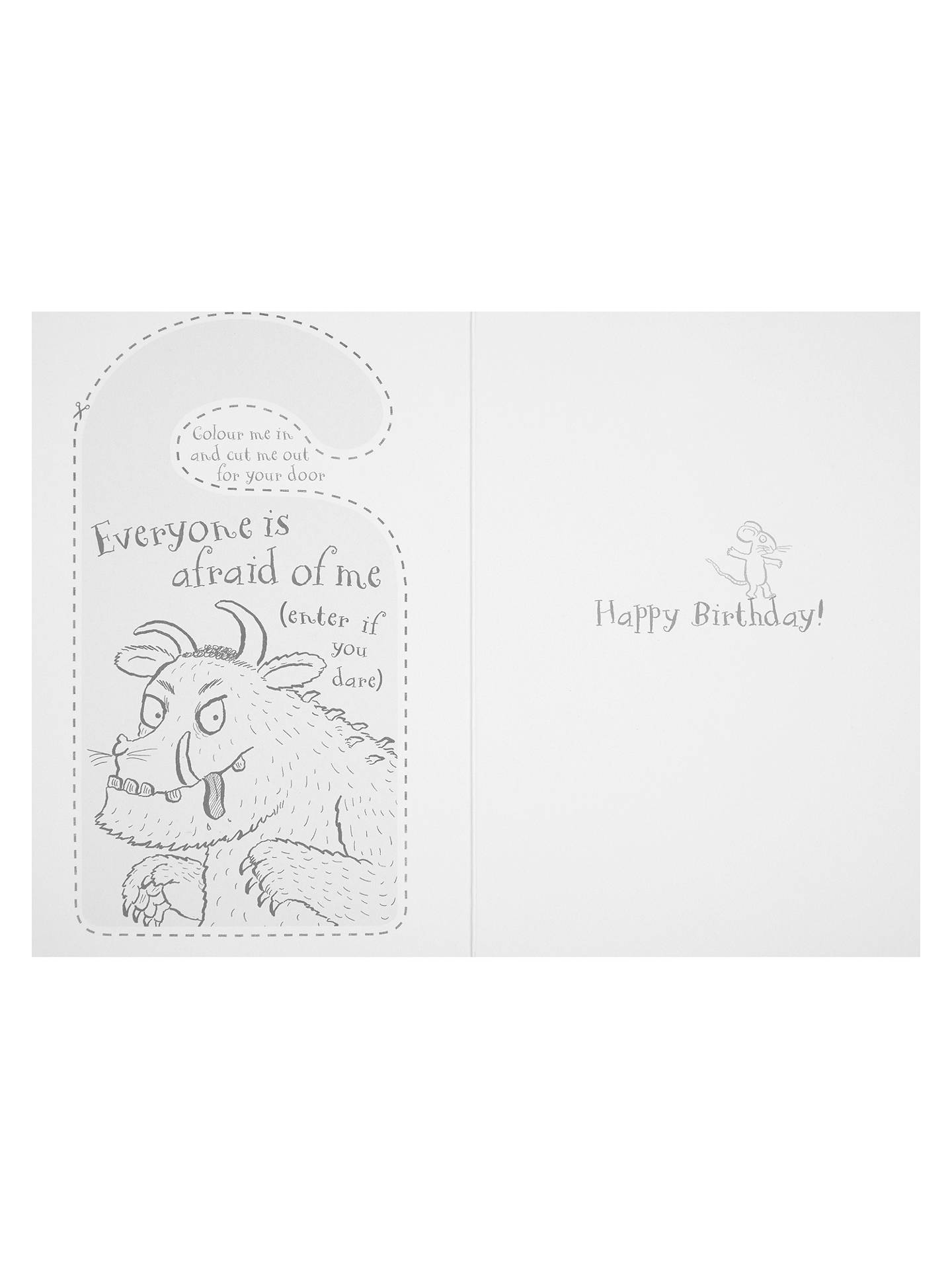 Woodmansterne Gruffalo Birthday Card At John Lewis Partners