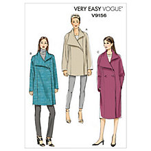 Buy Vogue Women's Coat Sewing Pattern, 9156 Online at johnlewis.com