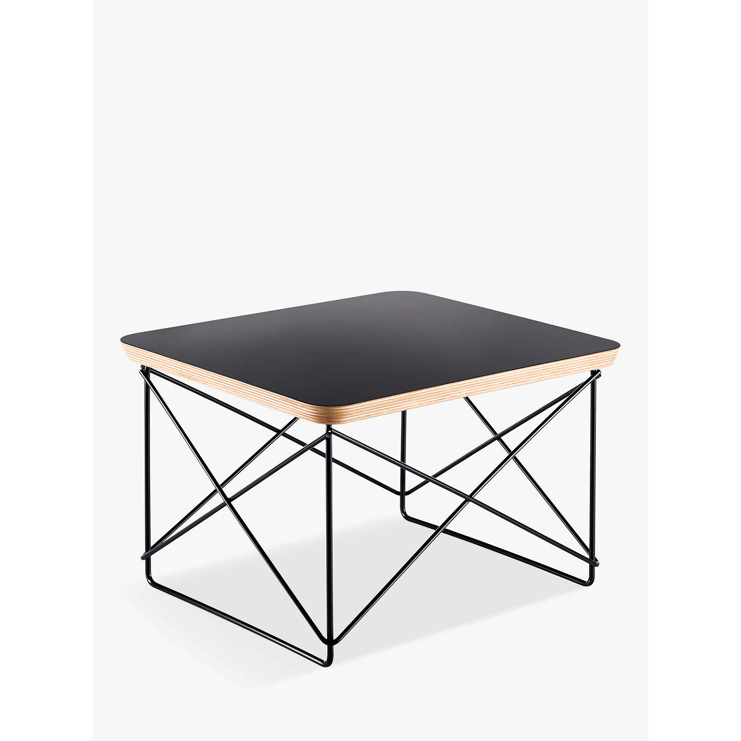 Vitra eames ltr occasional side table black at john lewis buyvitra eames ltr occasional side table black online at johnlewis greentooth Gallery
