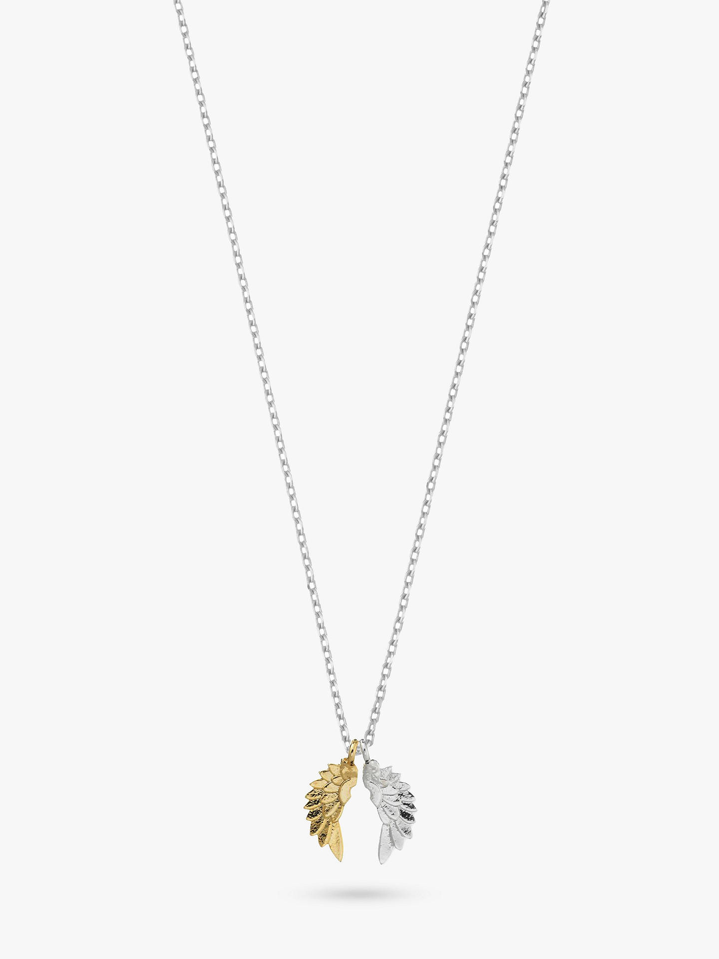 BuyEstella Bartlett Silver and Gold Plated Wings Pendant, Silver/Gold Online at johnlewis.com