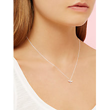 Buy Estella Bartlett Dragonfly Pendant Necklace, Silver Online at johnlewis.com