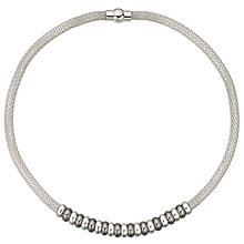 Buy John Lewis Mesh Polished Bead Necklace, Silver/Gunmetal Online at johnlewis.com