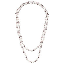 Buy John Lewis Long Faux Pearl Necklace, Pink/Multi Online at johnlewis.com