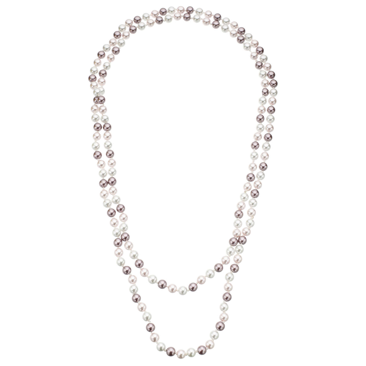blue image gray river faux pearls long necklace pearl products