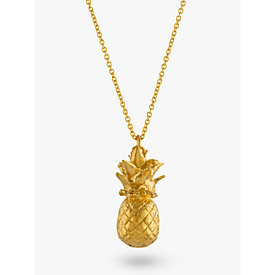 Product photo of Alex monroe long pineapple pendant necklace gold