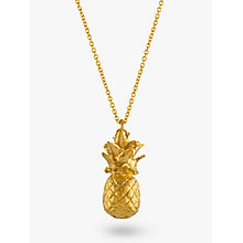 Buy Alex Monroe Long Pineapple Pendant Necklace, Gold Online at johnlewis.com