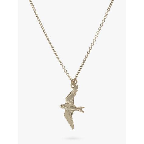Buy alex monroe flying swallow pendant necklace silver john lewis buy alex monroe flying swallow pendant necklace silver online at johnlewis mozeypictures Gallery