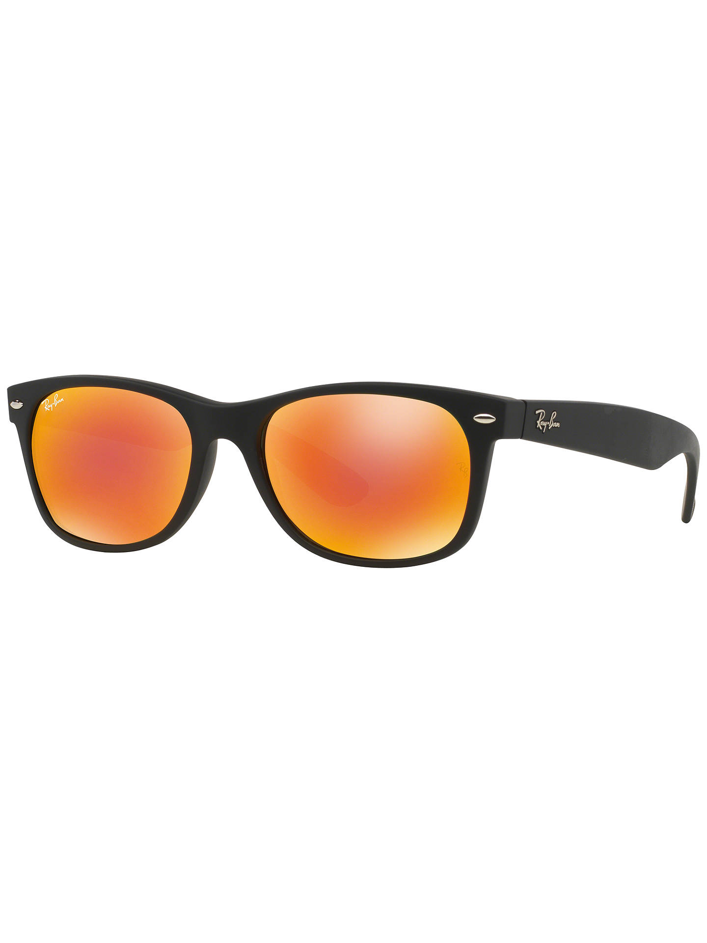 BuyRay-Ban RB2132 New Wayfarer Sunglasses, Matte Black/Mirror Orange Online at johnlewis.com