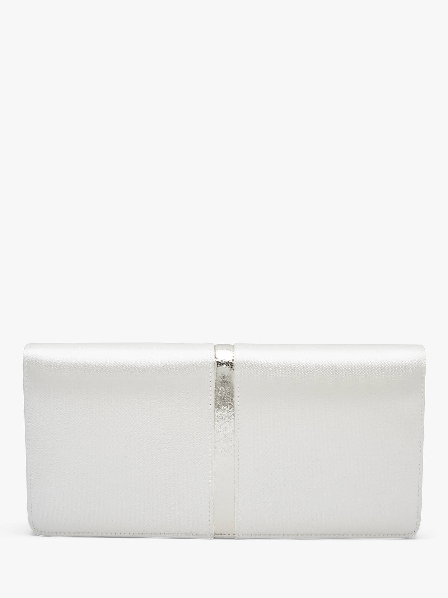BuyRainbow Club Trudie Satin Clutch, Ivory Online at johnlewis.com