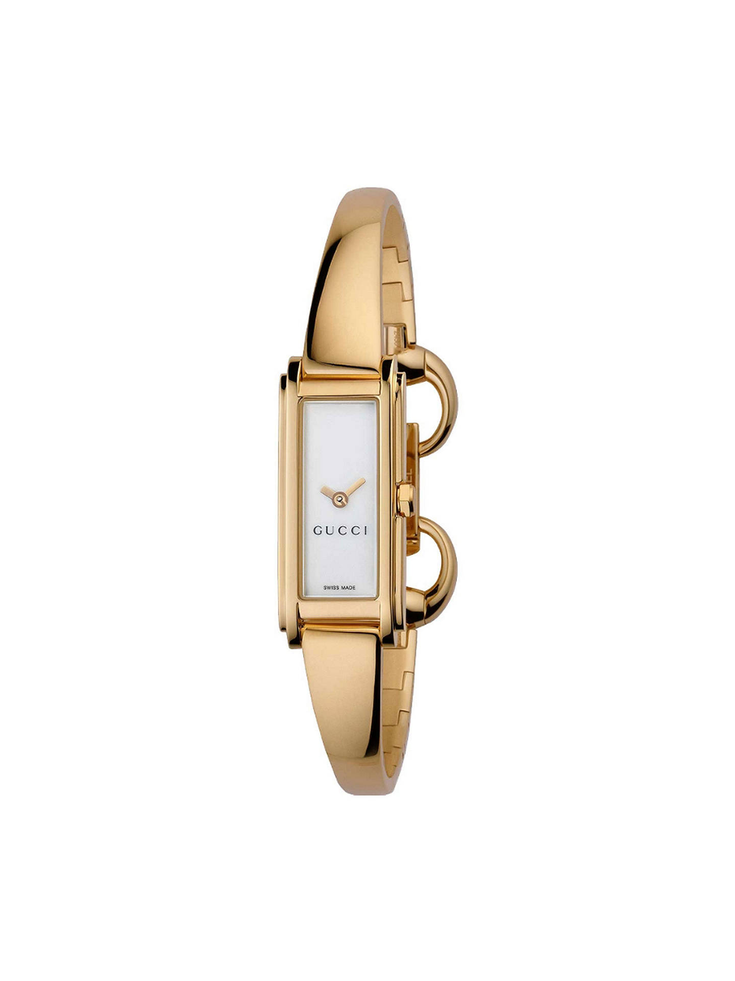 f4093e9f0cb Buy Gucci YA109527 Women s G Line Gold Plated Mother of Pearl Bangle Strap  Watch