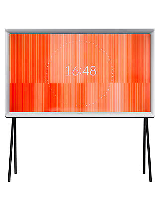 "Buy Samsung UE40LS001AU Serif 4K Ultra HD LED Smart TV, 40"", With Freeview HD, Built-In Wi-Fi & Exclusive Bouroullec Design, White Online at johnlewis.com"