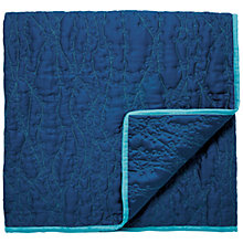 Buy Clarissa Hulse Clover Stripe Throw, Blue Online at johnlewis.com