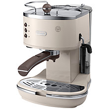 Buy DeLonghi ECOV311.BG Vintage Icona Espresso Coffee Machine, Cream Online at johnlewis.com