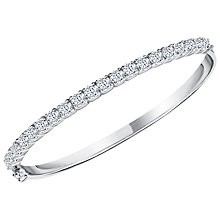 Buy Jools by Jenny Brown Cubic Zirconia Bangle, Silver Online at johnlewis.com