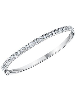 Jools by Jenny Brown Cubic Zirconia Bangle, Silver