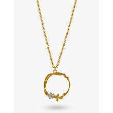 Buy Alex Monroe Gold Vermeil Branch and Flower Pendant Necklace, Gold/Silver Online at johnlewis.com