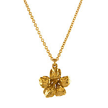 Buy Alex Monroe Single Flower Pendant Necklace, Gold Online at johnlewis.com