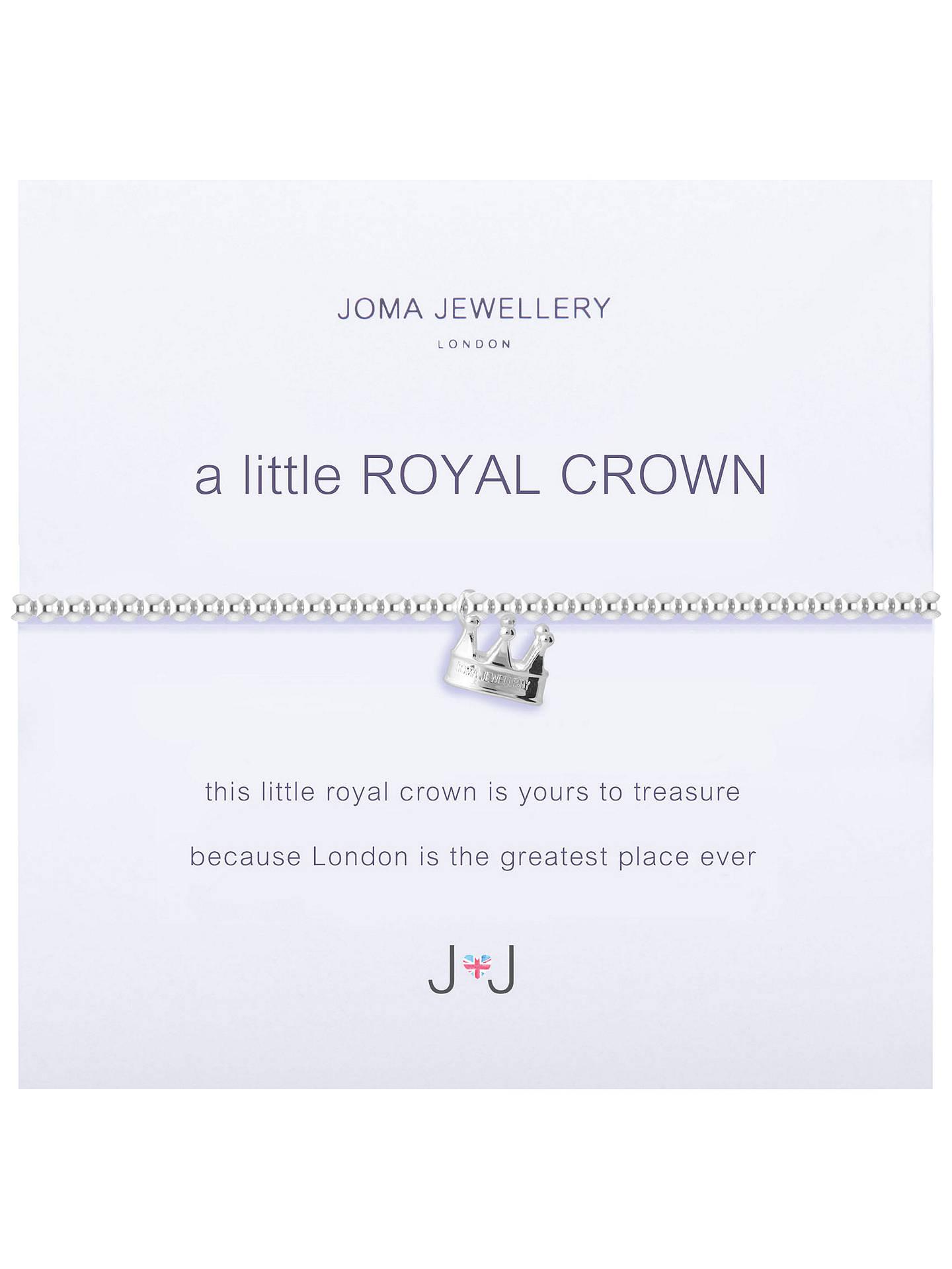 Joma A Little Royal Crown Charm Bracelet, Silver