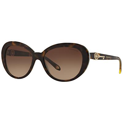 Tiffany & Co TF4118B Oval Sunglasses, Tortoise