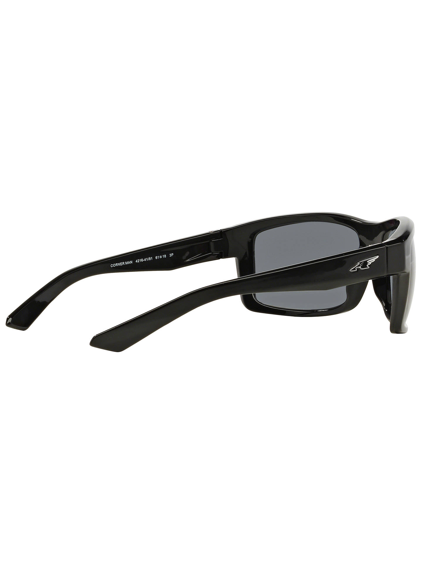 4af5c3475e Arnette AN4216 Corner Man Polarised Rectangular Sunglasses at John ...